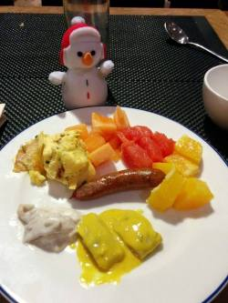 Frosty really liked the herring salads!